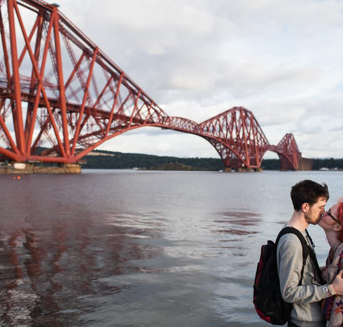 Juliane & Sam's Engagement Shoot by The Forth Rail Bridge || Edinburgh Wedding Photographer