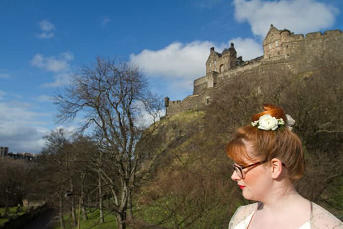 Edinburgh Wedding Photographer | Timberyard Wedding Shoot | Edinburgh Castle