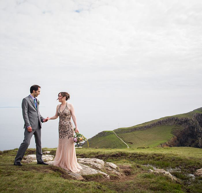 Edinburgh Elopement Photographer | Isle of Skye Elopement at Niest Point | Haley & Noah Get Married