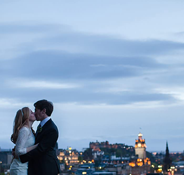 Edinburgh Elopement & Intimate Wedding Photographer | Calton Hill Elopement | Katie & Mick