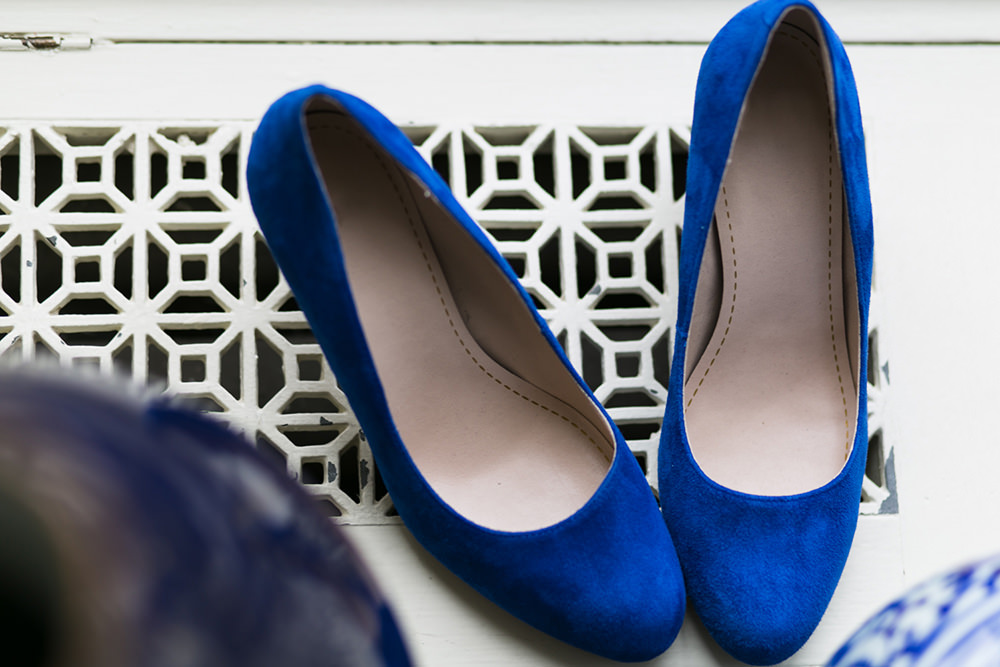 Blue Suede Wedding Shoes