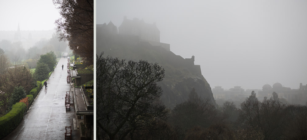Edinburgh Castle fog