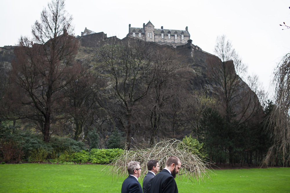 Non traditional wedding photographer Edinburgh