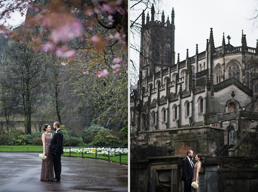 princes street gardends wedding portraits