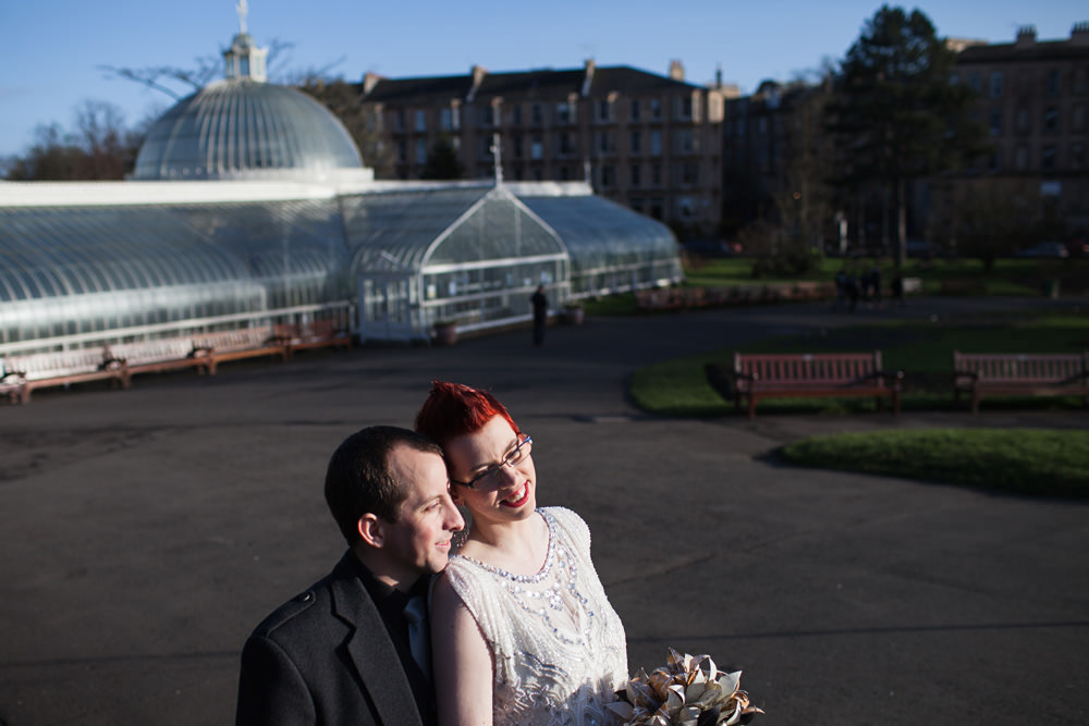 Botanic Gardens Glasgow Wedding Portraits