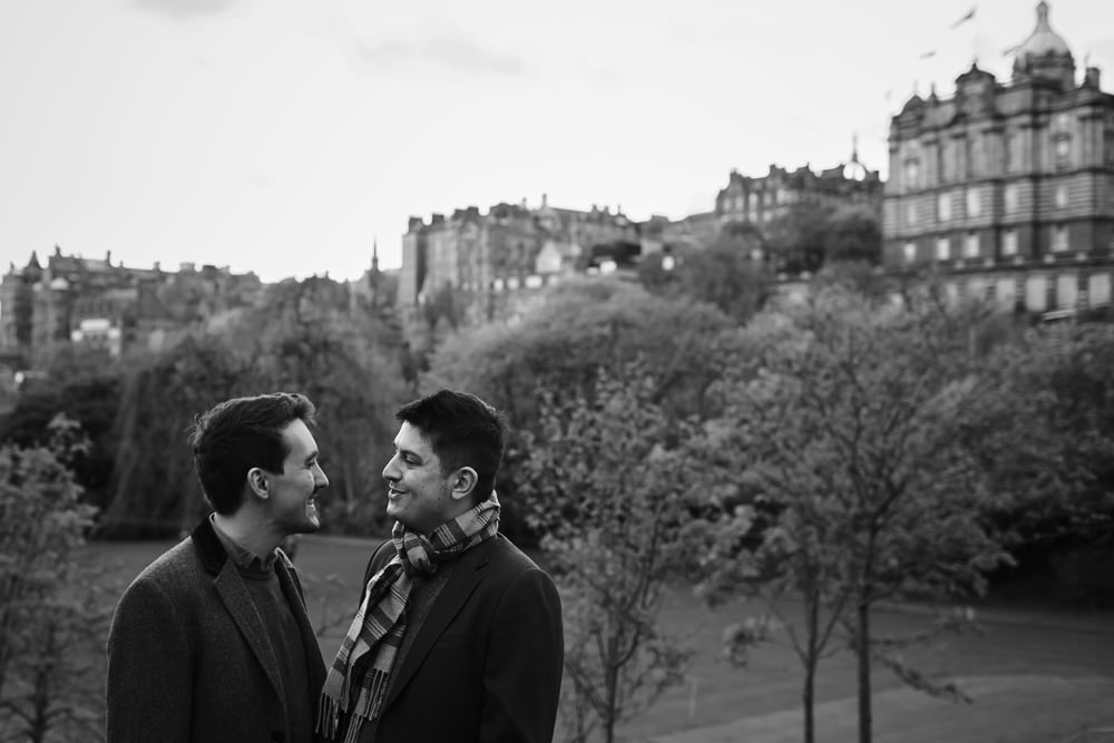 lgbtq engagement shoot edinburgh