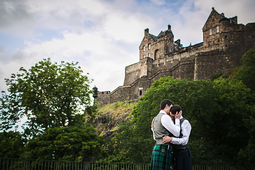 LGTBQ friendly wedding photographer Edinburgh