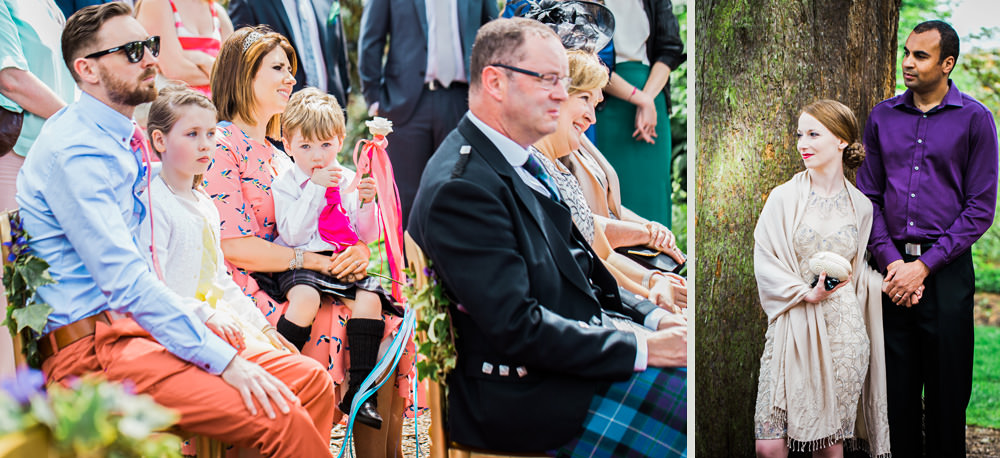Edinburgh Botanic gardens wedding