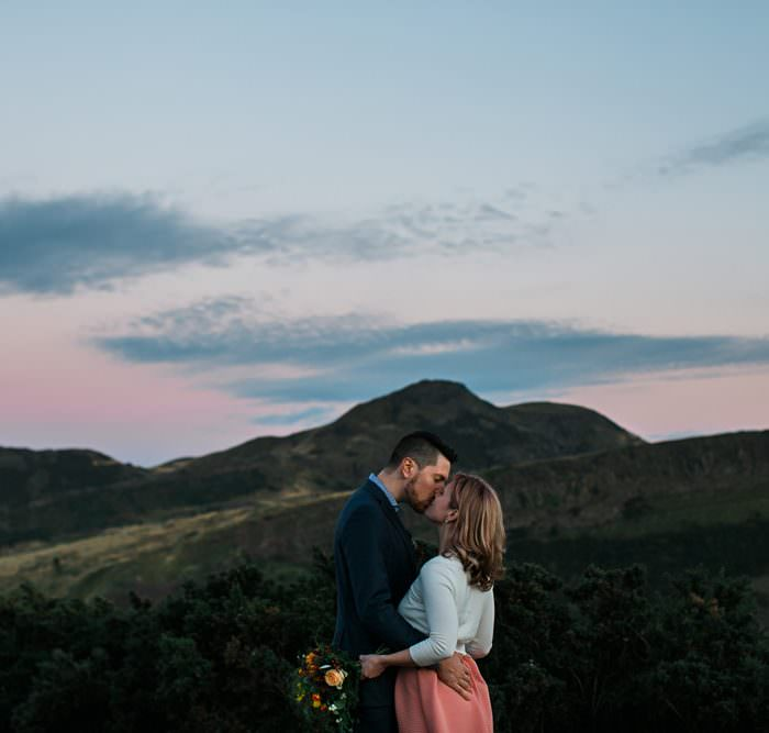 Elope To Edinburgh || Stylish Edinburgh Elopement || Meredyth & Michael