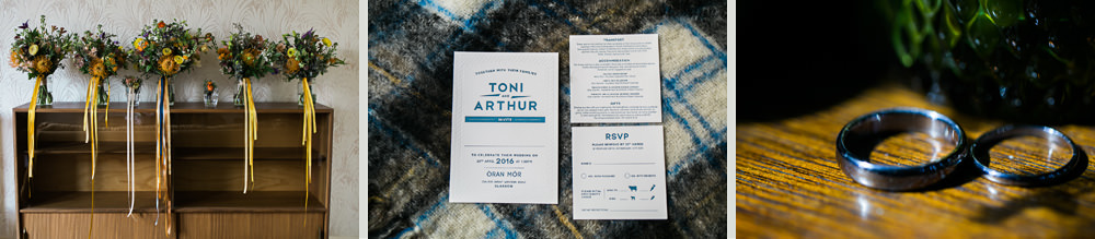 stylish scottish wedding