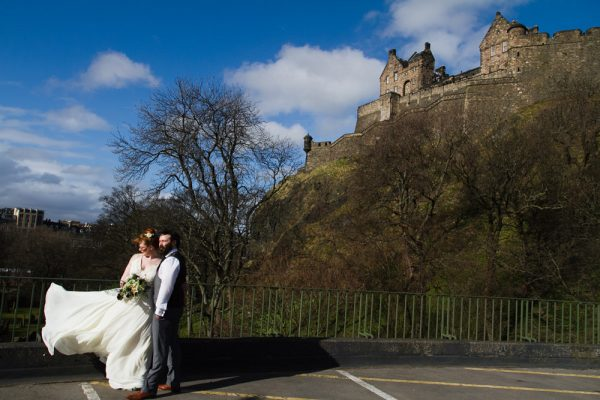 Edinburgh Wedding Shoot at The Timberyard, A Wee Peek